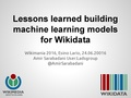 Lessons learned building machine learning models for Wikidata.pdf
