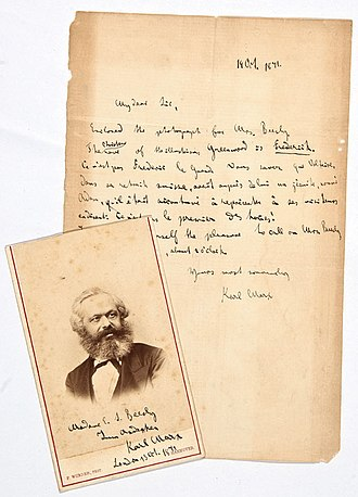 Edward Spencer Beesly - Image: Letter from Karl Marx to Prof. Edward Spencer Beesly