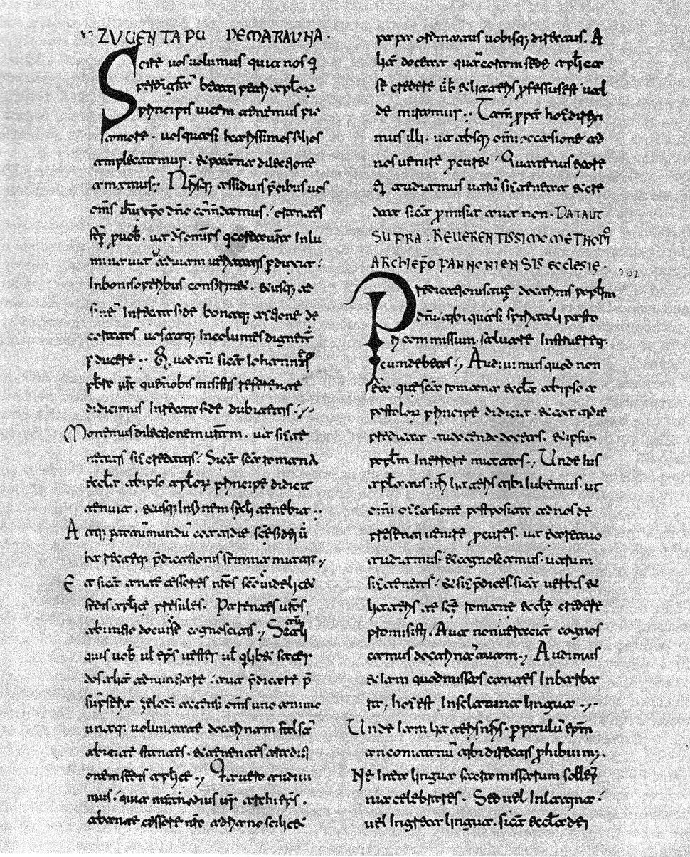 Letter svatopluk