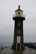 Lighthouse, end of east pier, Whitby - geograph.org.uk - 700071.jpg