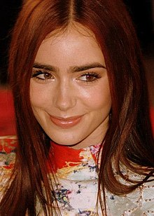 Lily Collins nel 2012