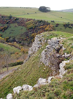 Limestone outcrop above Coombs Dale - geograph.org.uk - 602950