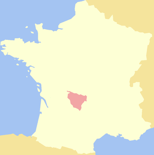 History of Limousin - Map of historical Limousin