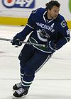 Trevor Linden playing for the Vancouver Canucks