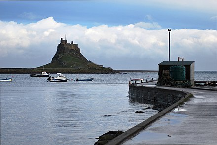 Lindisfarne Castle from the harbour Lindisfarne Castle from Harbour.JPG