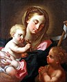 Lisbon, museu de Artes Decorativas, painting Mary with child.JPG