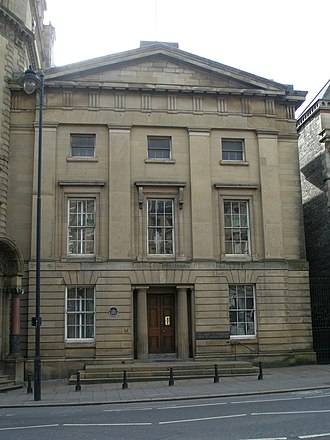 John and Benjamin Green - The front of the Literary and Philosophical Society building in Newcastle, designed by John Green