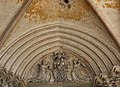 Lizines (77) Église Saint-Georges - Portail occidental - Tympan.jpg