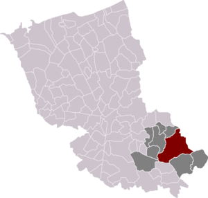 Bailleul, Nord - Location of Bailleul in the arrondissement of Dunkirk