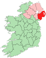 Location of County Down on island of Ireland.png