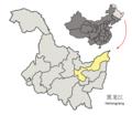 Location of Jiamusi Prefecture within Heilongjiang (China).png