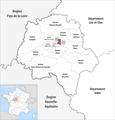 Locator map of Kanton Saint-Pierre-des-Corps 2018.png