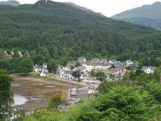 Lochgoilhead village in the Scottish Highlands in Argyll, Scotland