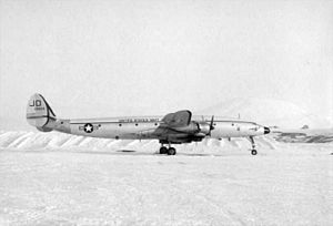 VX-6 - A United States Navy Lockheed C-121J Constellation of squadron VX-6 at Williams Field, McMurdo Station, on 1 November 1964