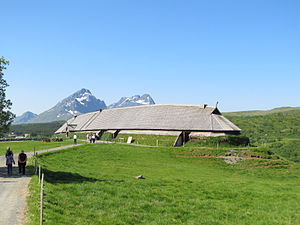 History of Norway - Reconstruction of a longhouse at Lofoten