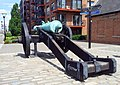 London-Woolwich, Royal Arsenal, cannon at No 1 Street 02.jpg