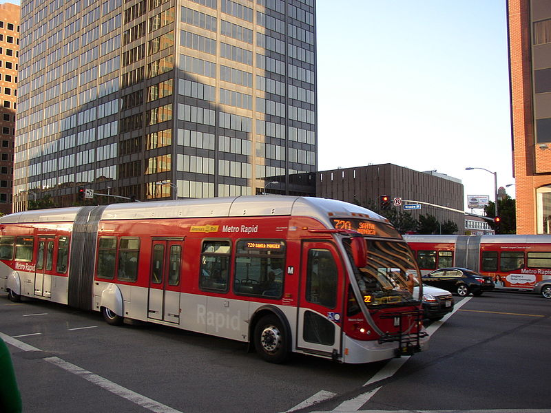 Metro Rapid Bus. Image CC licensed by AllyUnion
