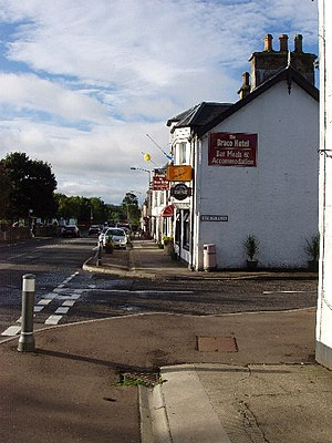 Braco - Braco's main street is the busy A822 linking Crieff to the A9 road