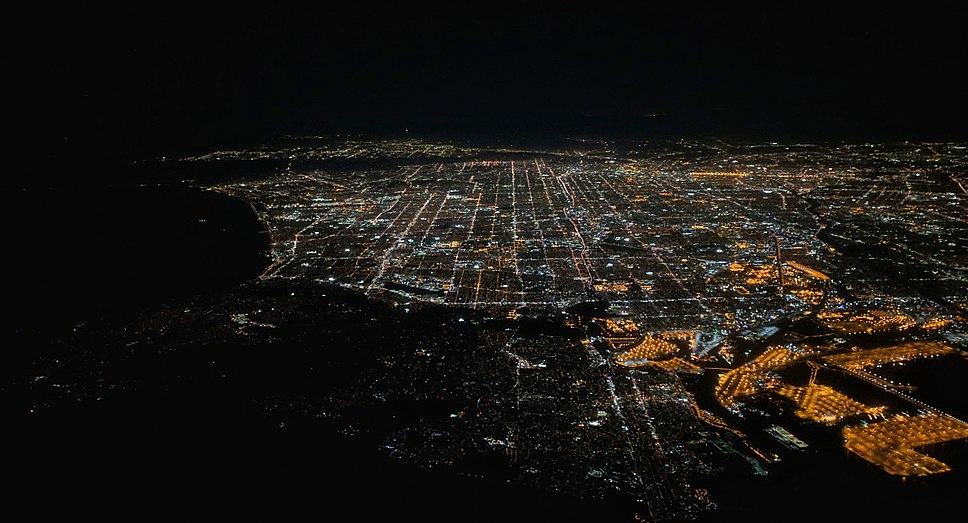Los Angeles night aerial