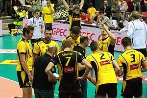 Lotos Trefl Gdańsk - The team during match with PGE Skra on September 30, 2011.