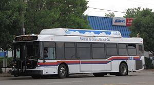 Loveland, Colorado - FLEX bus powered by CNG
