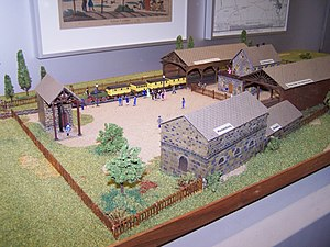 Bavarian Ludwig Railway - Model of the first Nuremberg station of 1835 in the Nuremberg Transport Museum