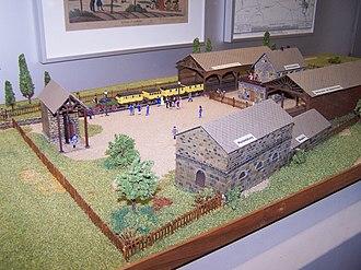 Bavarian Ludwig Railway - Model of the first Nuremberg station of 1835 in the Nuremberg Transport Museum