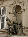 Měšťanský dům U zlatého jelena (Malá Strana), Praha 1, Tomášská 4, Malá Strana - sv. Hubert (F.M. Brokoff).JPG