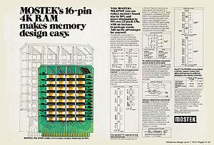 Mostek - MOSTEK's 4K Dynamic RAM.