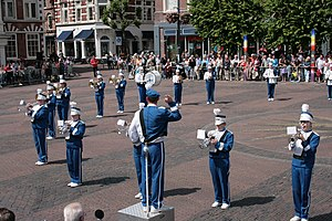 Marching and Cycling Band HHK - Performing at the Grote Markt in Haarlem