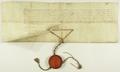 Maciej Łubieński arcybiskup gnieźnieński i prymas Polski zaświadcza, iż w 1648.XI.17 posłowie miasta Poznania oddali swoje głosy na Jana Kazimierza.png