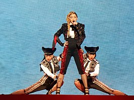 Madonna tijdens de Rebel Heart Tour