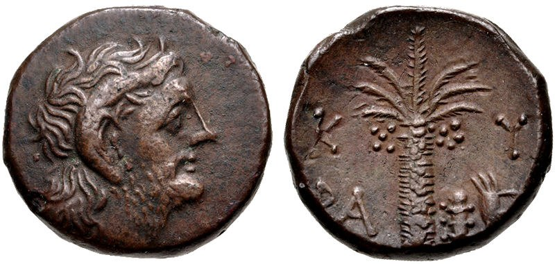 Magas as king of Kyrene, circa 282 or 275 to 261 BC