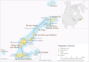 Îles-de-la-Madeleine (provincial electoral district) - Image: Magdalen Islands