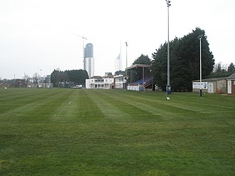 United Services Recreation Ground - Image: Main stand at US Portsmouth Sports Ground. geograph.org.uk 698709
