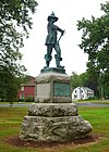 Major John Mason by James C. G. Hamilton, dedicated 1889 - Palisado Green - Windsor, Connecticut - DSC04394.jpg