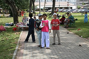 Thai Malays - Image: Malay Muslims in Songkhla