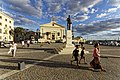 Malta - Valletta - Castille Place - Monument to George Borg Olivier (Valletta) - Malta Stock Exchange.jpg