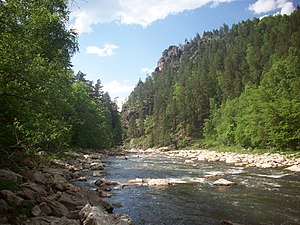 South Ural Nature Reserve - Small Inzer River, in the southwest of South Ural Reserve