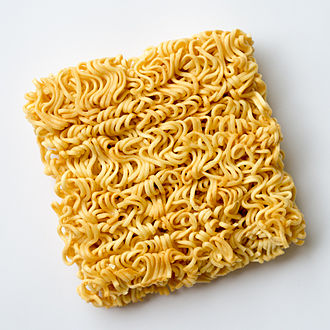 Instant noodle - Instant Noodle in typical block form (dried)