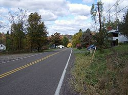 A typical road in Upper Burrell Township