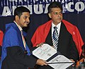 Manish Tewari presented the PG diplomas to the successful students of various courses for the academic year 2011-12, at the 45th Annual Convocation of the Indian Institute of Mass Communication (IIMC), in New Delhi.jpg