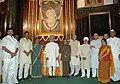Manmohan Singh, the Union Finance Minister, Shri Pranab Mukherjee, the Leader of Opposition in Lok Sabha.jpg