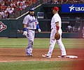 Manny Ramirez and Albert Pujols at first base in August 2008.jpg