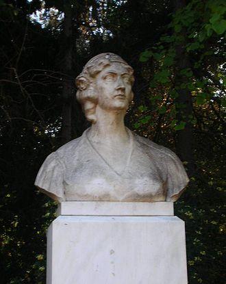 Manto Mavrogenous - Bust of Manto Mavrogenous in Athens.