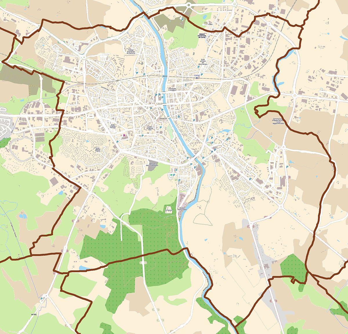 Plan Mayenne Ville