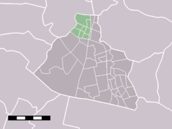 The statistical district of Krommenie in the municipality of Zaanstad.