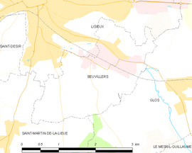 Mapa obce Beuvillers