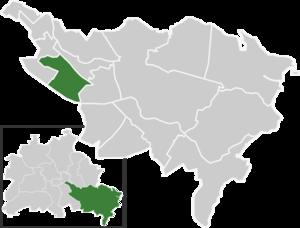 Johannisthal (Berlin) - Image: Map de be johannisthal