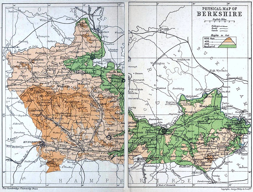Map of Berkshire 1911